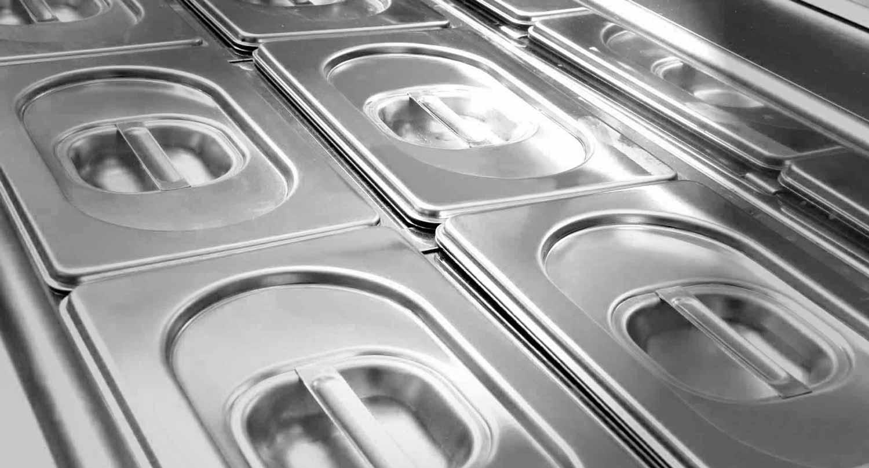 Vassoi acciaio Gastronorm